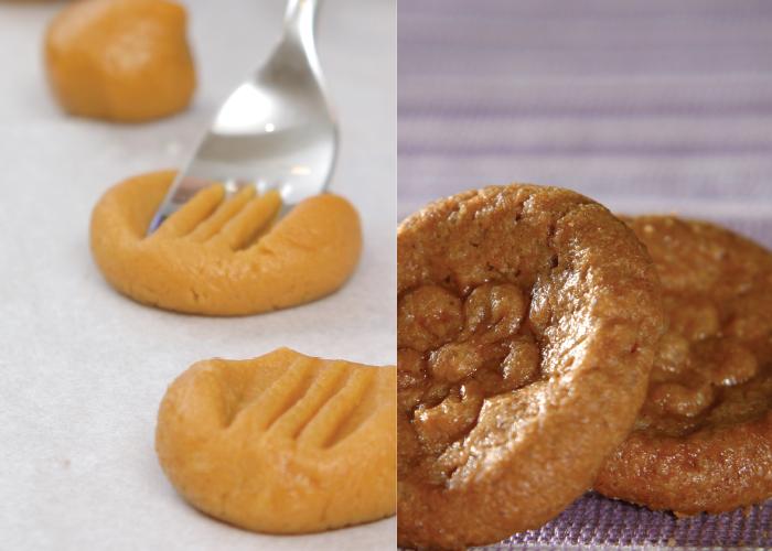 עוגיות חמאת בוטנים מוטבעות. צילום: דניאל לילה