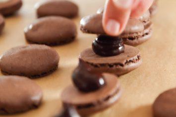 עוגיות מקרון שוקולד