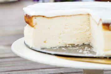 עוגת גבינה אפויה עם שמנת חמוצה