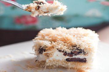 עוגת שמנת קדאיף של פעם
