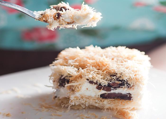 עוגת שמנת קדאיף של פעם. צילום: דניאל לילה