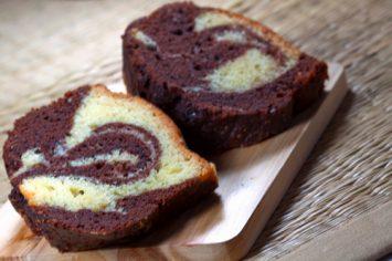 עוגת שיש במיקרוגל בציפוי שוקולד