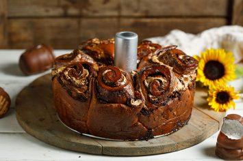 קרין גורן חוגגת חורף כמו שרק היא יודעת עם עוגת שמרים שושנים במילוי קרמבו