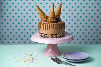 עוגת גלידה נוזלת