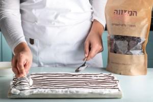 עוגיות מרנג זברה שוקולד 3