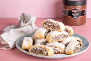 עוגיות מגולגלות עם ממרח פררו 7
