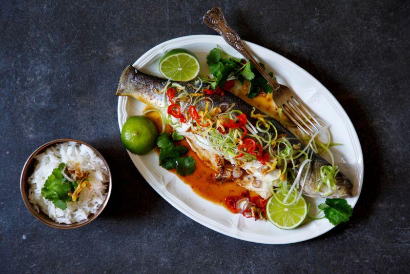 דג שלם בתנור -כוסברה