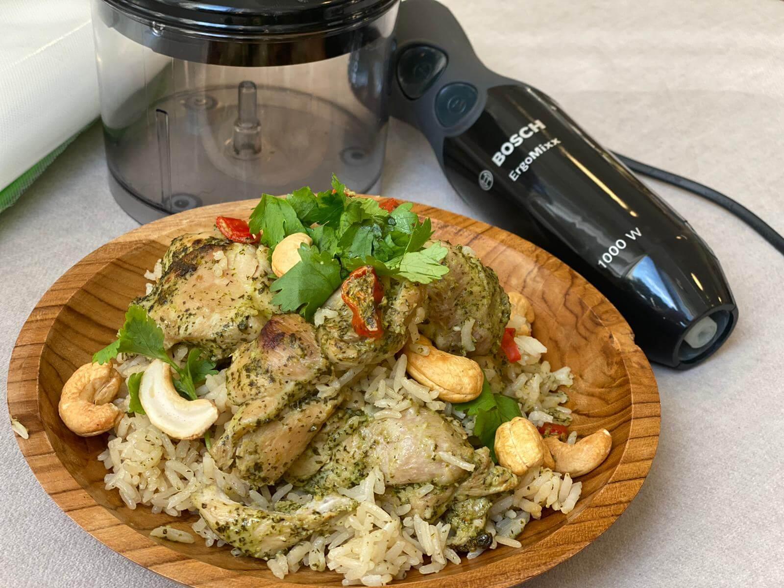 פרגיות ואורז בתנור במרינדה אסיאתית. צילום: דניאל עמית